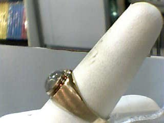 Gray Stone Gent's Stone Ring 10K Yellow Gold 2.5dwt Size:10.5