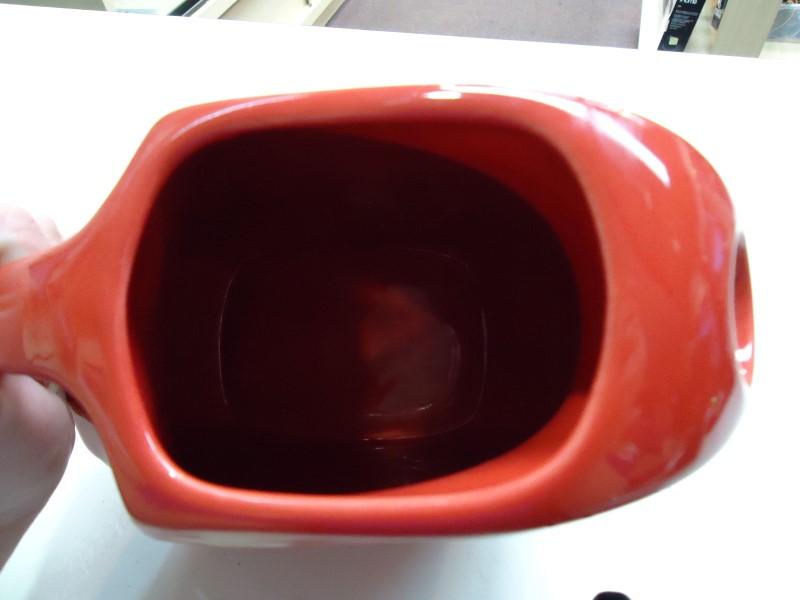 Vintage Original Fiestaware Red Disc Pitcher