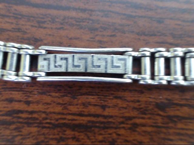 """8.5"""" Gold Bracelet 14K White Gold 15.2g"""