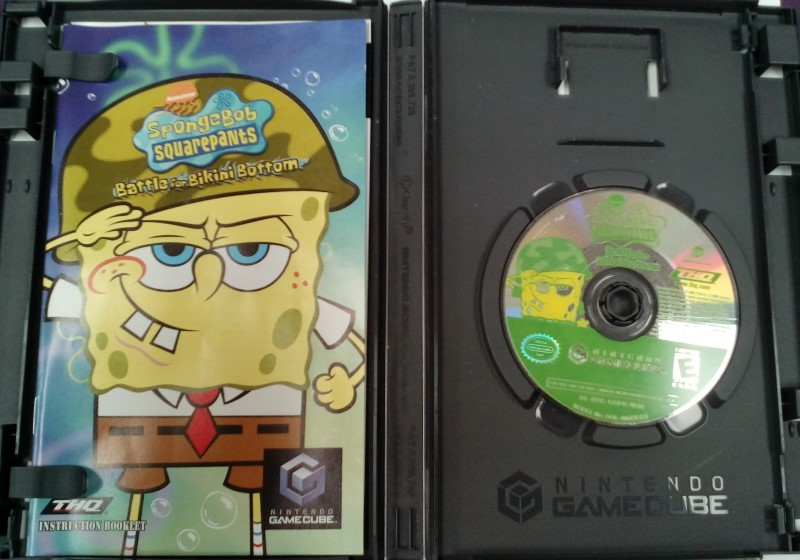 NINTENDO GAMECUBE SPONGEBOB SQUAREPANTS BATTLE FOR BIKINI BOTTOM