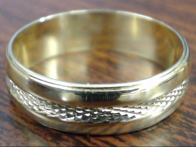 VINTAGE ETERNITY DESIGN WED RING BAND SOLID REAL 14K GOLD SIZE 7.5