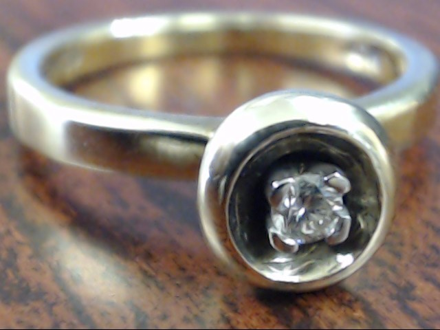 VINTAGE DIAMOND ENGAGE WED ESEMCO RING SOLID 10K YELLOW GOLD SIZE 5
