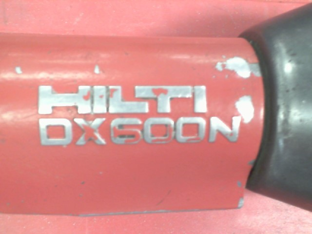 HILTI DX 600N POWDER ACTUATED NAIL GUN WITH CASE POWER LOADS AND PINS