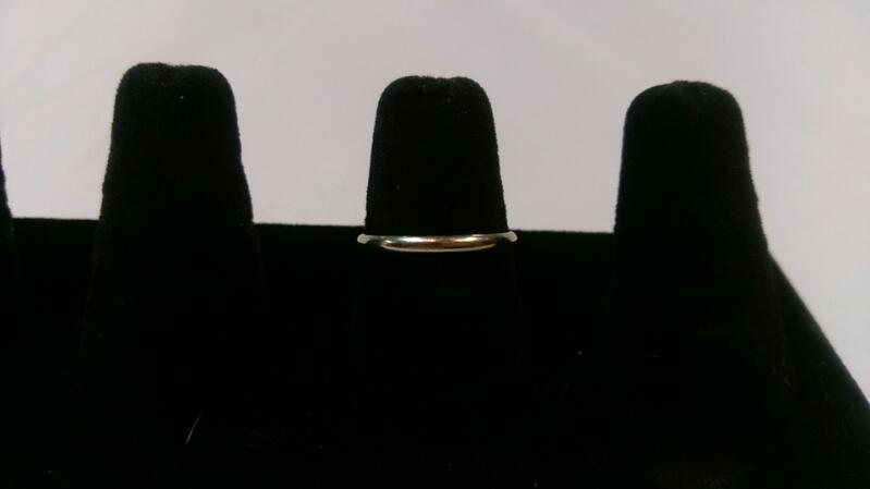 Lady's White Gold Band Ring 14K 1.6g Size:7