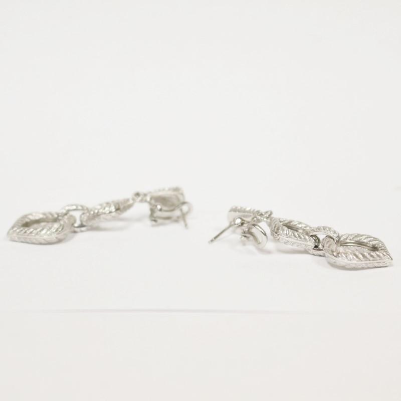 "Judith Ripka Sterling Silver Rope Dangle Earrings, 2"""