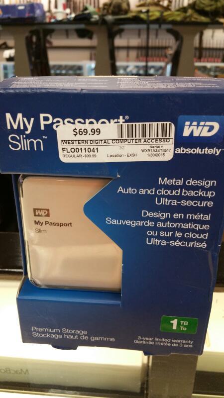 WESTERN DIGITAL Computer Accessories MY PASSPORT SLIM