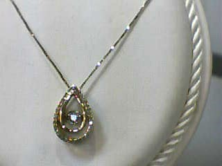 Diamond Necklace .04 CT. 10K Yellow Gold 1.5dwt