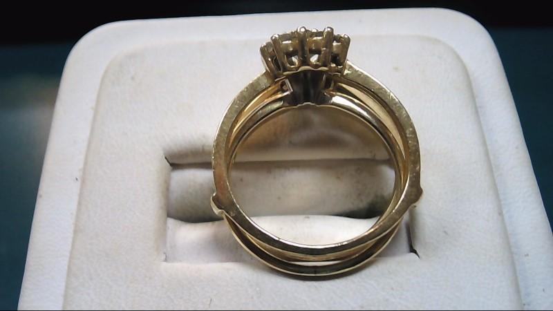 Lady's Diamond Wedding Set 13 Diamonds .64 Carat T.W. 14K Yellow Gold 5.4g