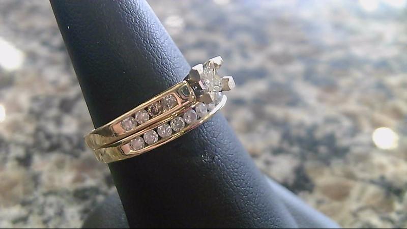 Lady's Diamond Wedding Set 19 Diamonds .56 Carat T.W. 14K Yellow Gold 5.1g