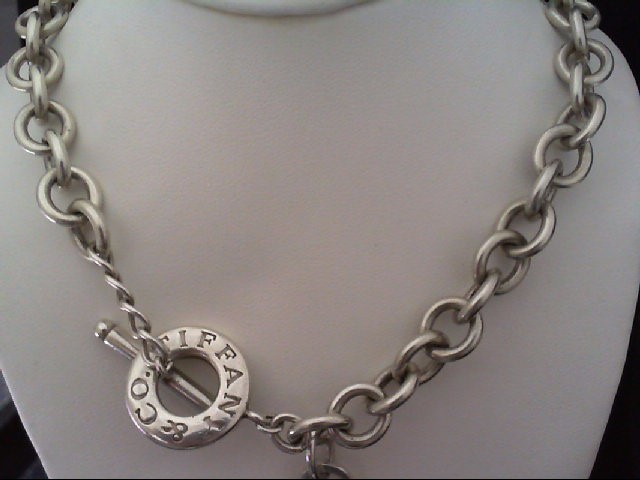 """18"""" STAMPED TIF & CO. S925 89.7G 18"""" Silver Link Chain 925 Silver 89.7g"""