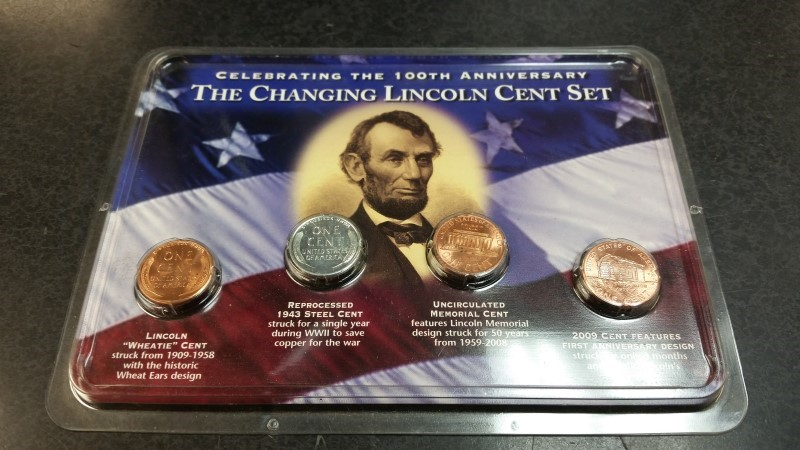 The Changing Lincoln Cent Set - 100th Anniversary