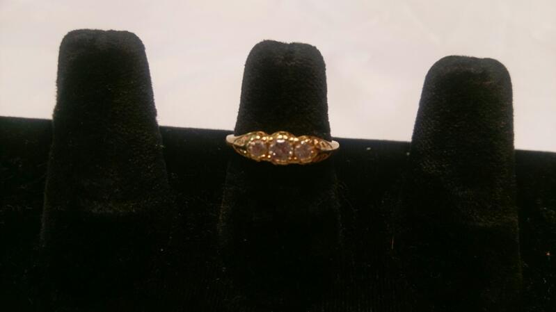 Lady's Diamond Wedding Band 3 Diamonds .40 Carat T.W. 14K Yellow Gold 3.2g