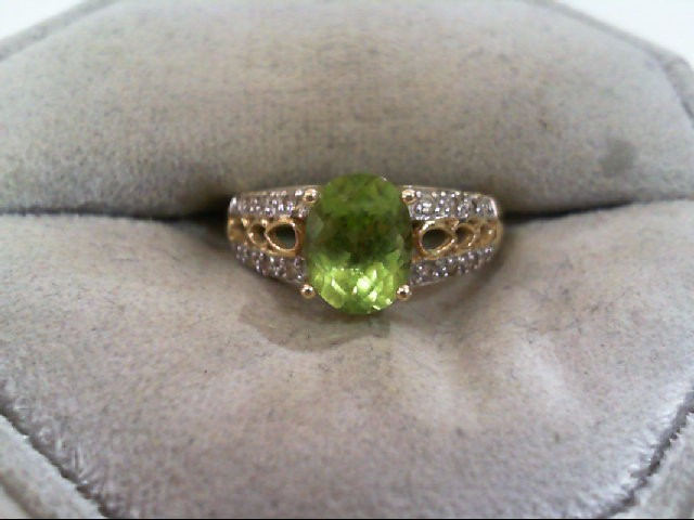 Lady's Diamond Fashion Ring 16 Diamonds .080 Carat T.W. 14K Yellow Gold 2.3g