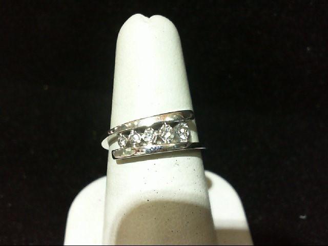 Lady's Diamond Fashion Ring 5 Diamonds .15 Carat T.W. 10K White Gold 2.8g
