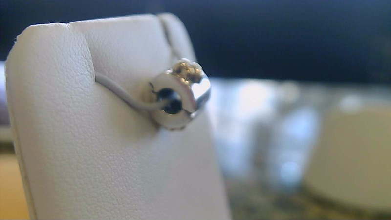 sterling silver/14k yellow gold flower clip charm