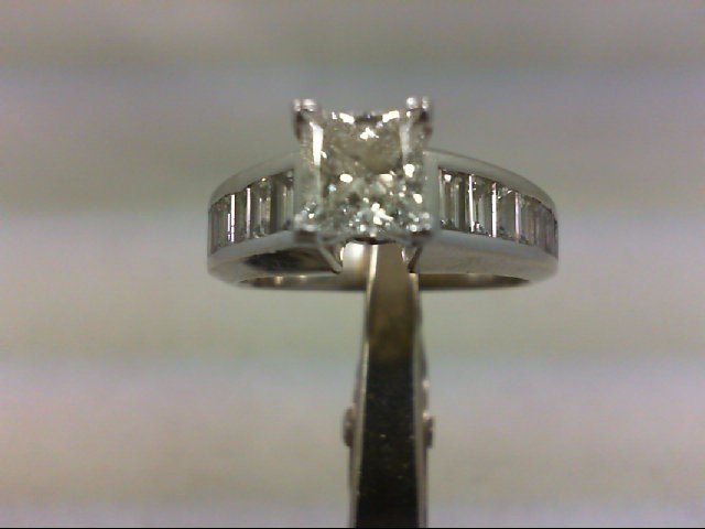 Lady's Diamond Engagement Ring 15 Diamonds 3.00 Carat T.W. 14K White Gold 8.38g
