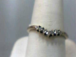 Synthetic Cubic Zirconia Lady's Stone Ring 10K Yellow Gold 0.8dwt Size:8.3