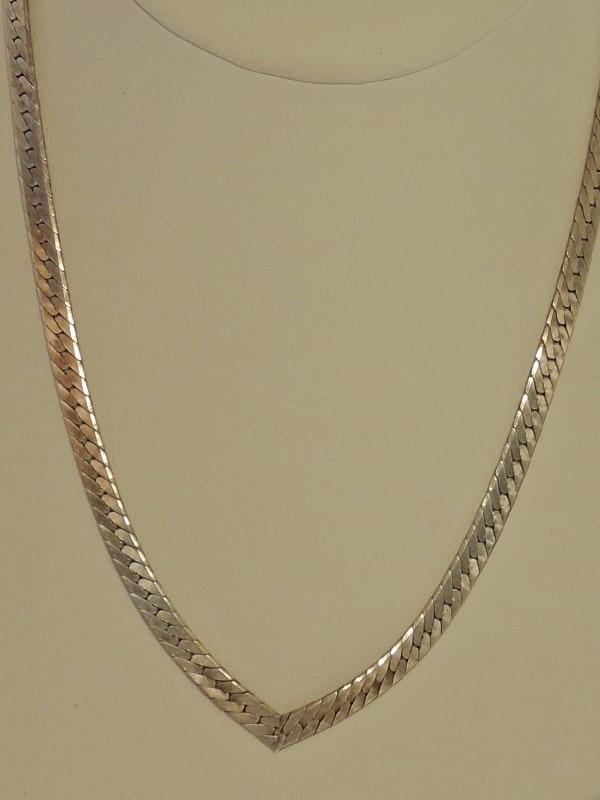 Silver Herringbone Chain 925 Silver 17.8g