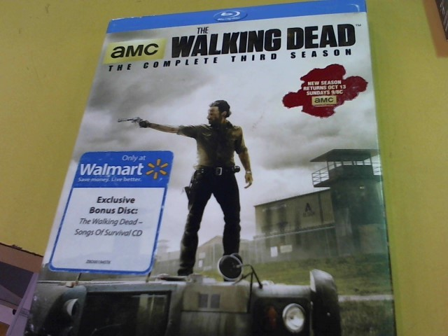 BLU-RAY MOVIE Blu-Ray WALKING DEAD THE COMPLETE THIRD SEASON