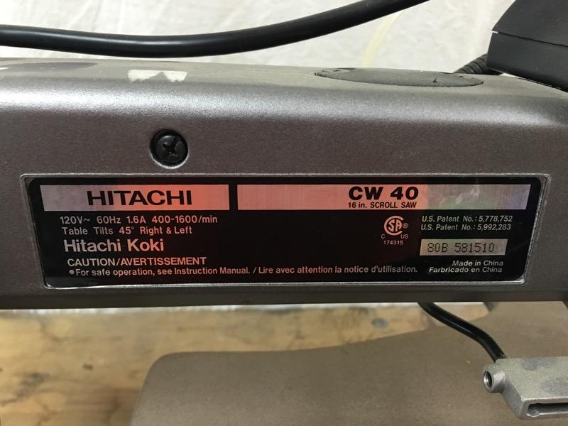 HITACHI Scroll Saw CW40