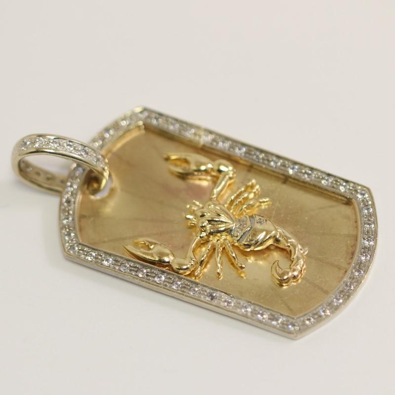 14k Yellow Gold Skorpian Pendant