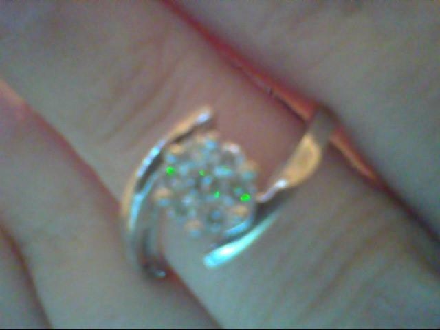 Lady's Diamond Fashion Ring 7 Diamonds .25 Carat T.W. 14K White Gold 2.8g