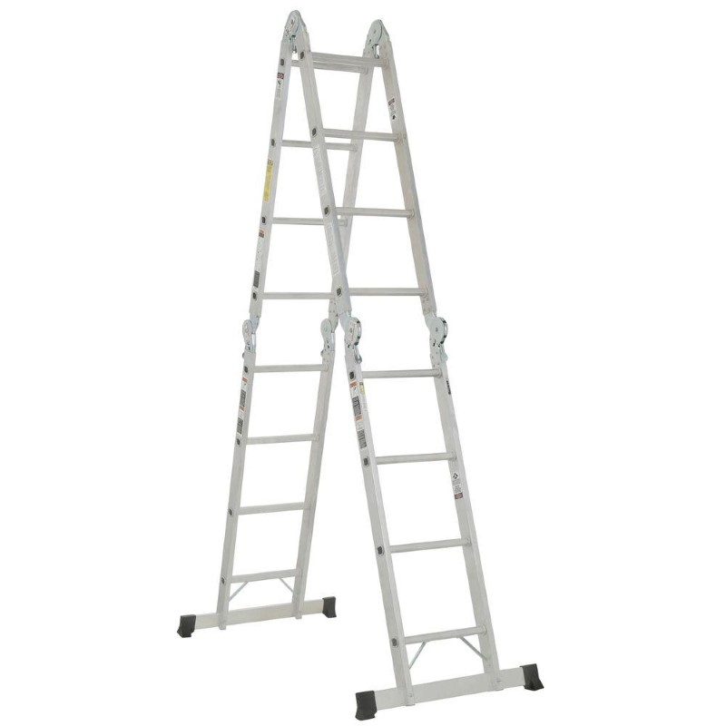 WERNER M8-16 16 ft. Aluminum Folding Multi-Position Ladder 300 lb.
