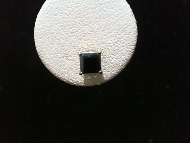 Sapphire Gold-Stone Earrings 14K White Gold 0.5g
