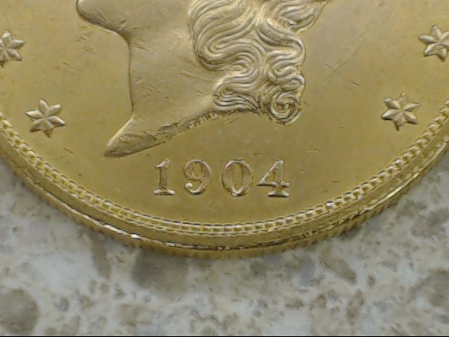 1904 GOLD UNITED STATES $20 LIBERTY HEAD DOUBLE EAGLE COIN