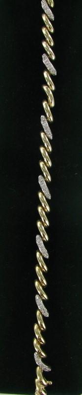 Gold Bracelet 14K 2 Tone Gold 10.8dwt