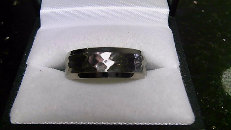 Gent's Wedding Band Silver Stainless 4.54g Sz 10