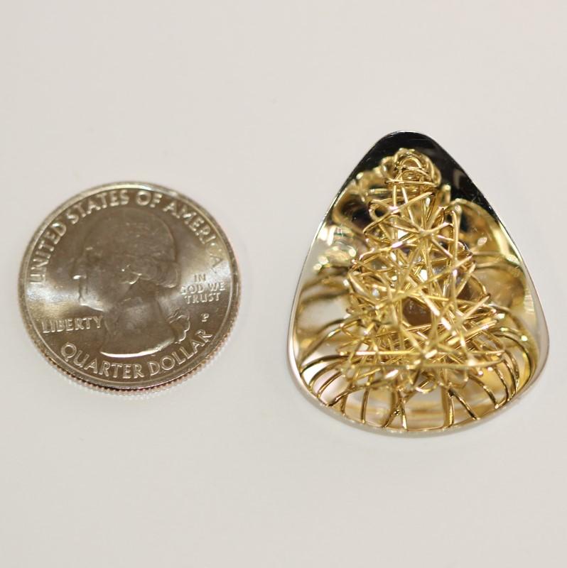 18K Two-Toned Spun Gold Charm