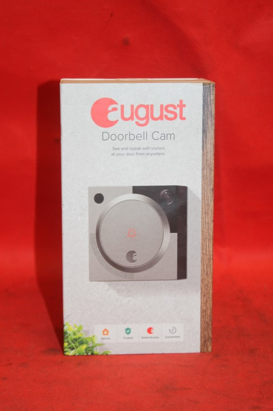 New August Doorbell Cam Smart Video Security System Wi-Fi Silver Camera