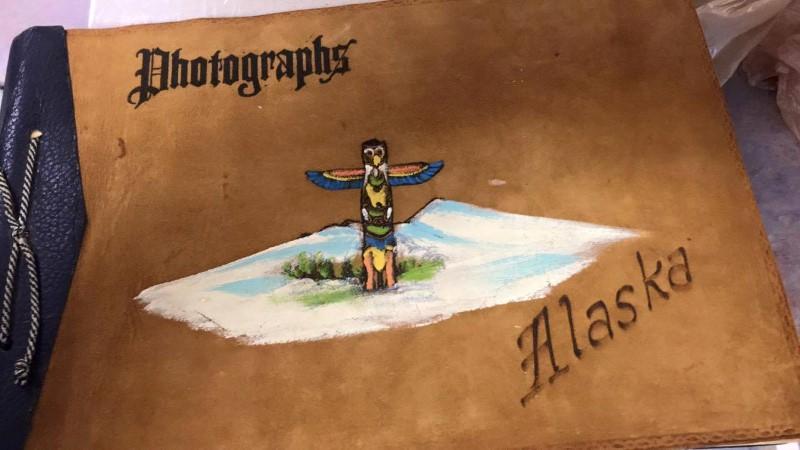 PHOTOGRAPHS ALASKA LEATHER BOOK