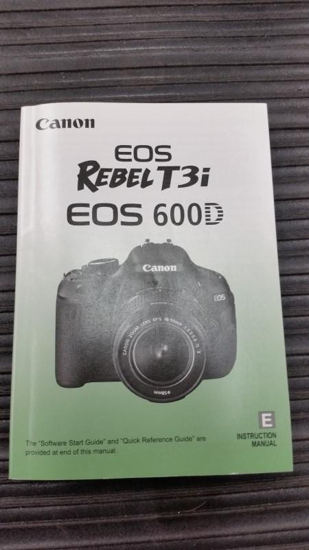 CANON EOS REBEL T3I W/ 18-55MM LEN