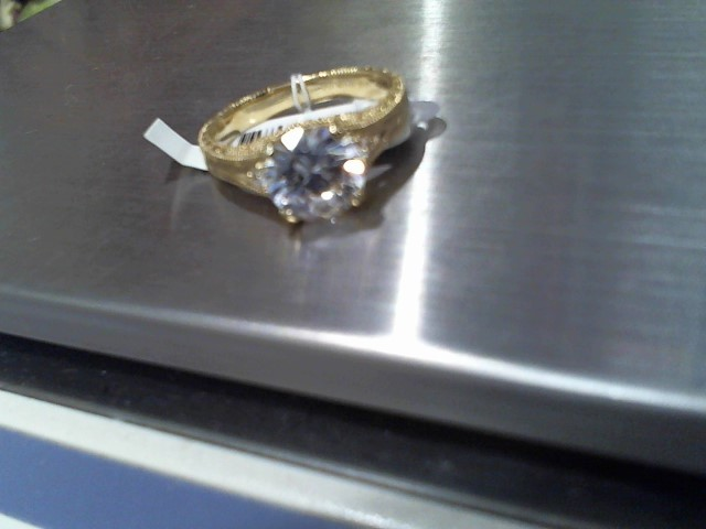 Lady's Diamond Solitaire Ring 2.19 CT. 14K Yellow Gold 4.1g