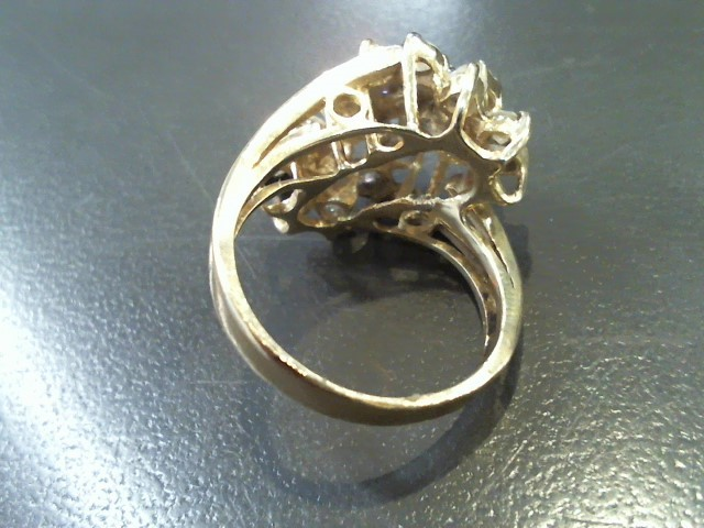 Lady's Diamond Fashion Ring 20 Diamonds 2.00 Carat T.W. 14K Yellow Gold 6.7g