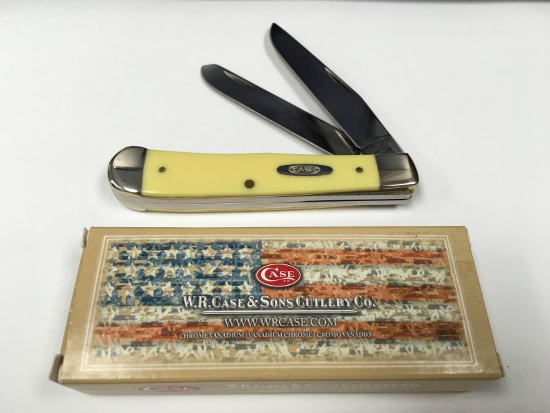W.R. Case & Sons 3254 CV Yellow Handle Trapper