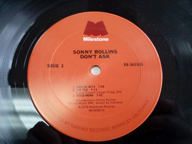 MILESTONE RECORDS SONNY ROLLINS DON'T ASK VINYL