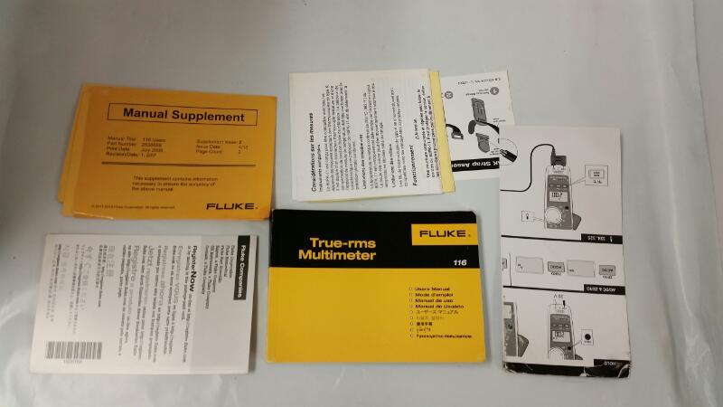 FLUKE 116/322 COMBO MULTIMETER CLAMP METER