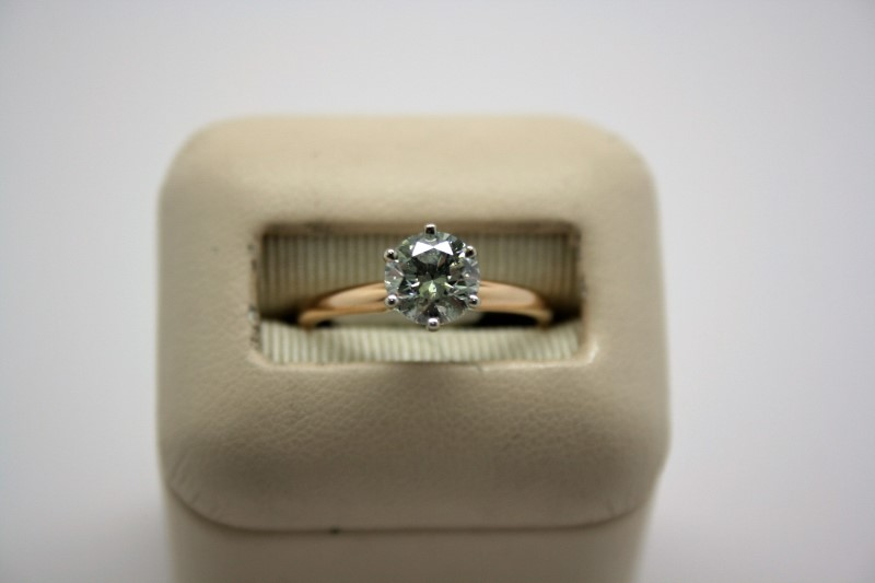 LADY'S 1.04CTW SOLITAIRE DIAMOND RING 14K YELLOW GOLD