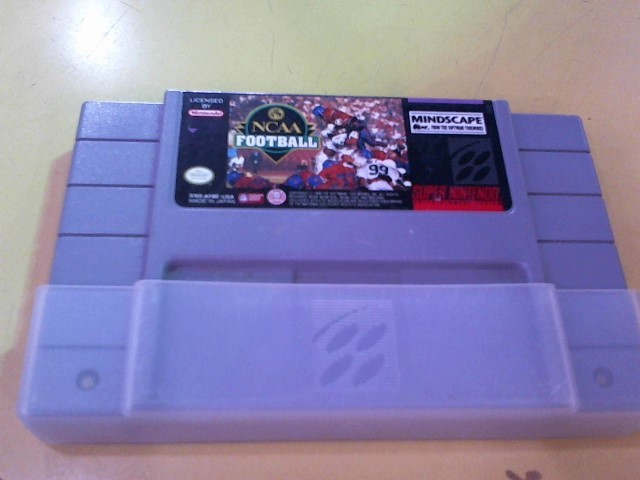 NINTENDO Nintendo SNES Game NCAA FOOTBALL