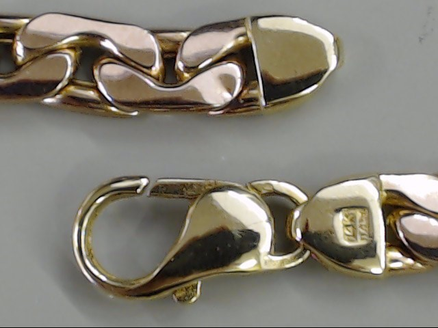"7.5"" 6.5mm AURAFIN OPEN LINK BRACELET 14K ROSE GOLD 12.8g ITALY"