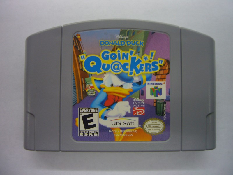 NINTENDO Wii Game DONALD DUCK GOIN QUACKERS *CARTRIDGE ONLY*