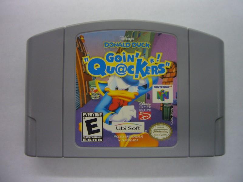 NINTENDO Wii Game DONALD DUCK GOIN QUACKERS *CARTRIDGE ONLY*