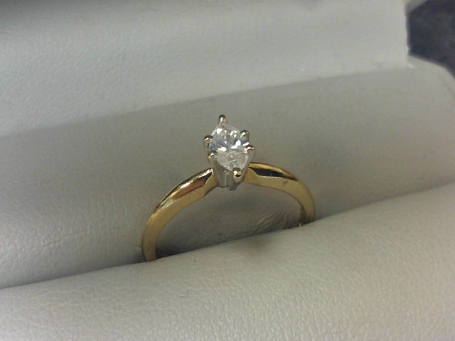 Lady's Diamond Solitaire Ring .33 CT. 14K Yellow Gold 2.2g