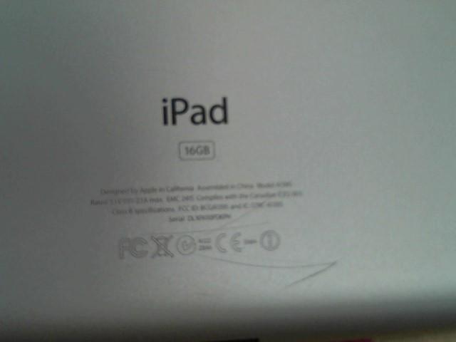 APPLE Tablet IPAD 2 - A1395