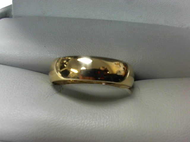 Gent's Gold Wedding Band 10K Yellow Gold 7.4g