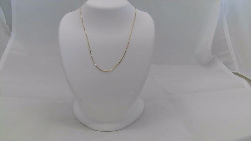Gold Box Chain 14K Yellow Gold 1g