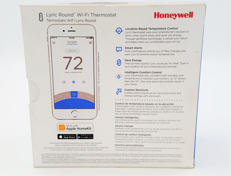 Honeywell Lyric Round WiFi Programmable Thermostat RCH9310WF5003